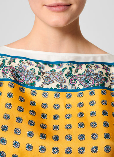 ESCADA Cotton and Silk Foulard T-shirt