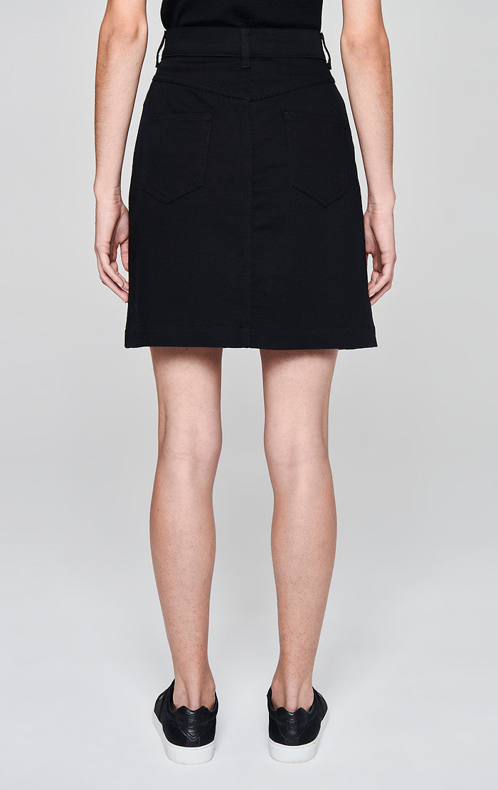 ESCADA Denim and Satin Mini Skirt