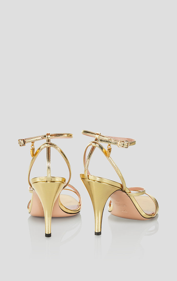 ESCADA Gold Leather Sandals