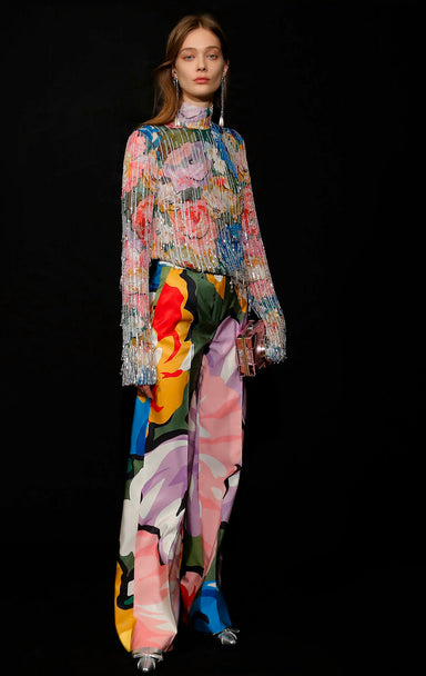 Residency Collection - Silk Floral Pants - ESCADA