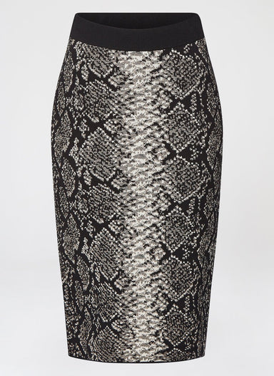 Viscose Jacquard Midi Skirt - ESCADA