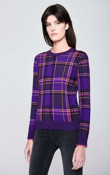 ESCADA Virgin Wool Check Sweater