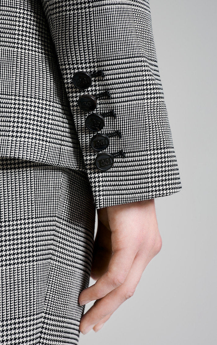 ESCADA Virgin Wool Check Blazer