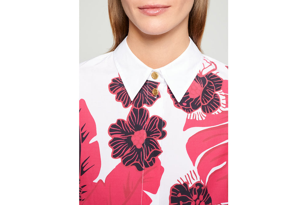 Cotton Poplin Printed Shirt