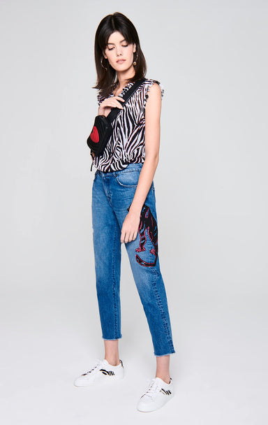 Sequin-Embroidered Jeans - ESCADA