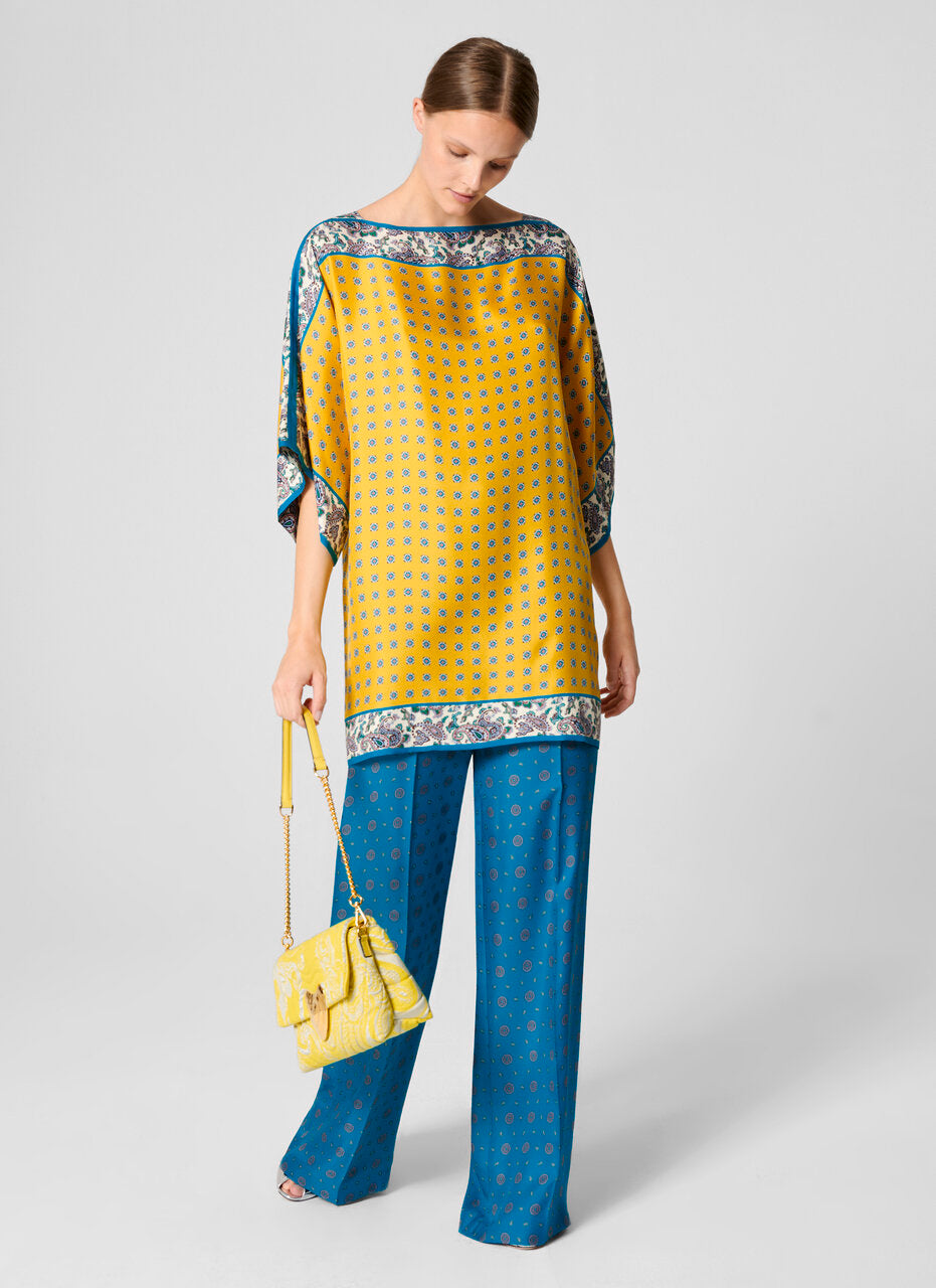 Silk Foulard Print Tunic Top - ESCADA