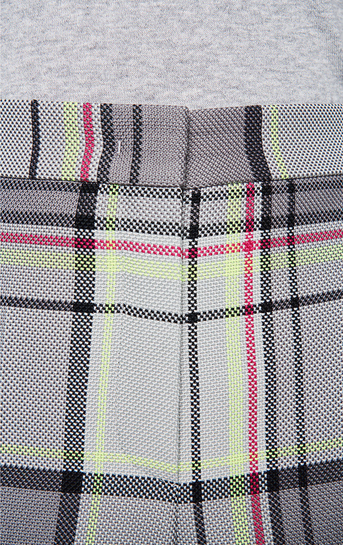 Cotton Blend Check Pants - ESCADA