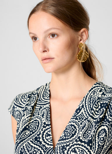 Paisley Print Jersey Dress - ESCADA