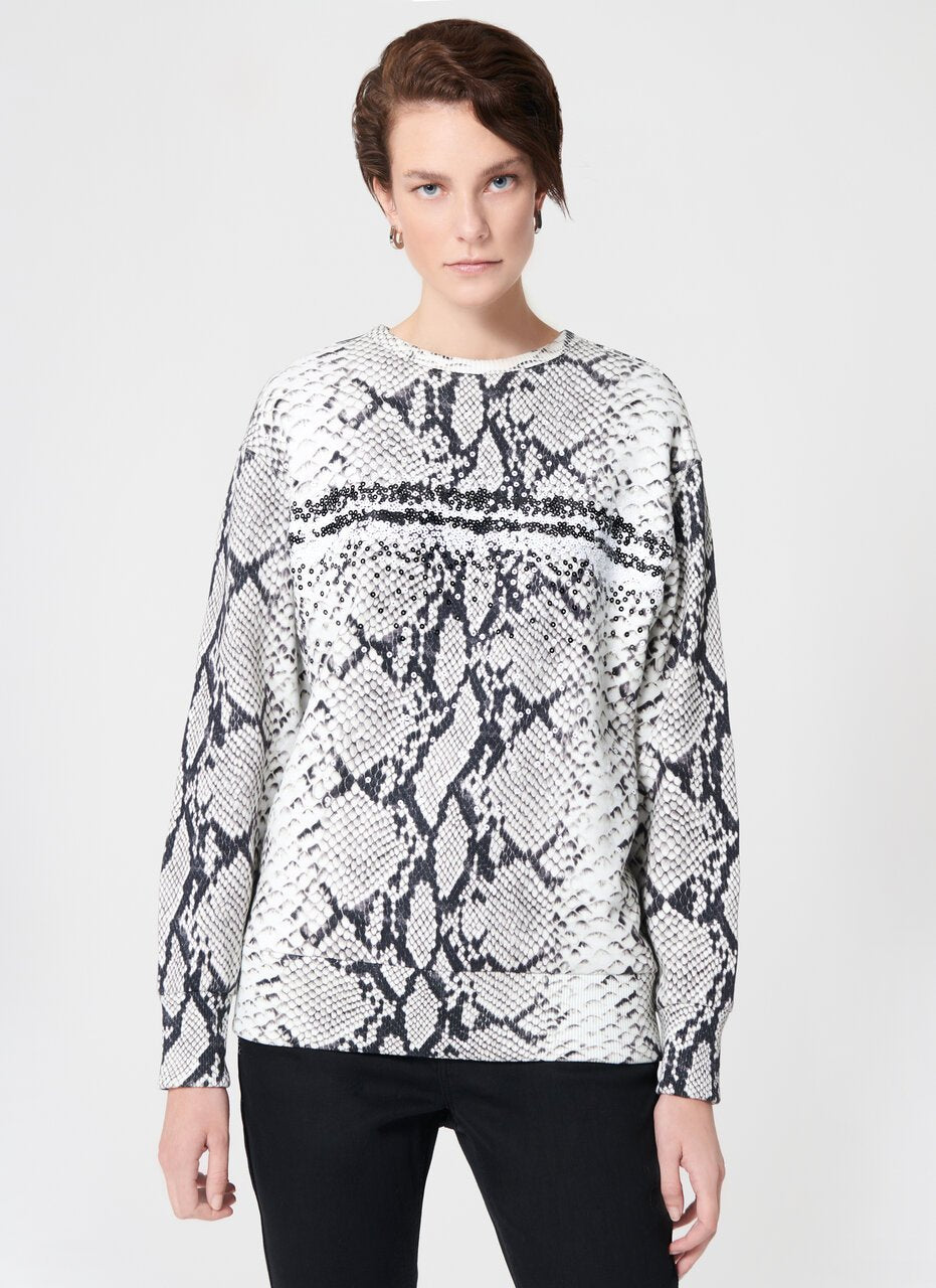 Printed And Embroidered Sweatshirt - ESCADA