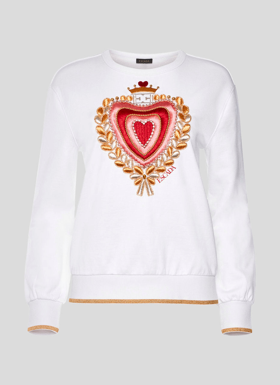 ESCADA Heart Appliqué Sweatshirt
