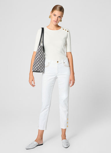 ESCADA Side Button Capri Jeans