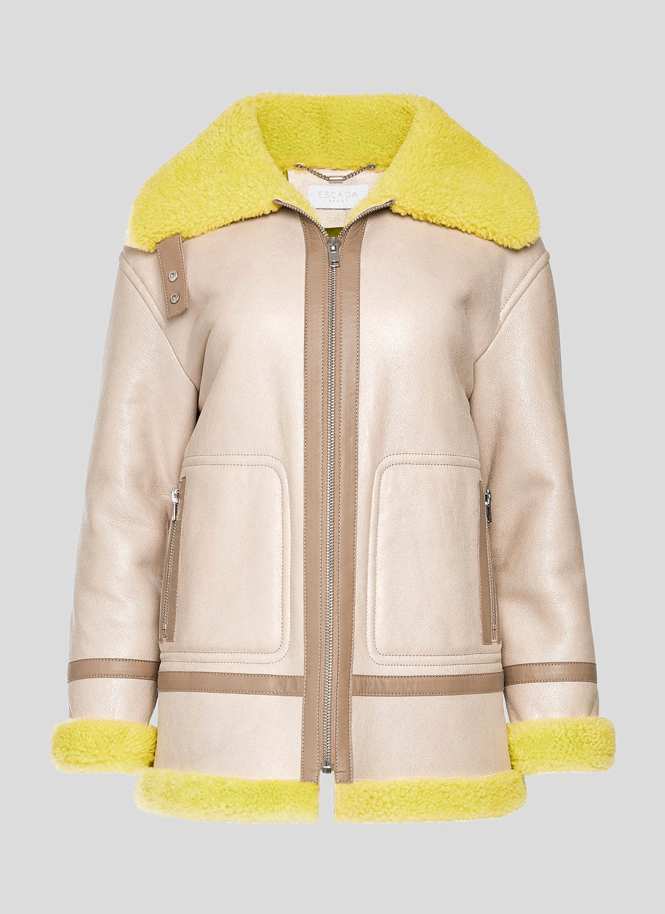 ESCADA Shearling Leather Jacket