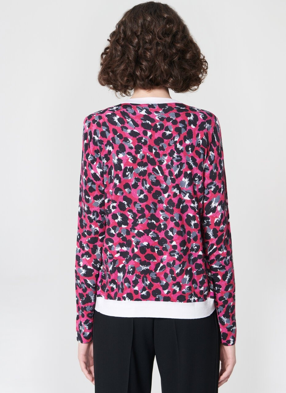 ESCADA Printed wool silk cardigan