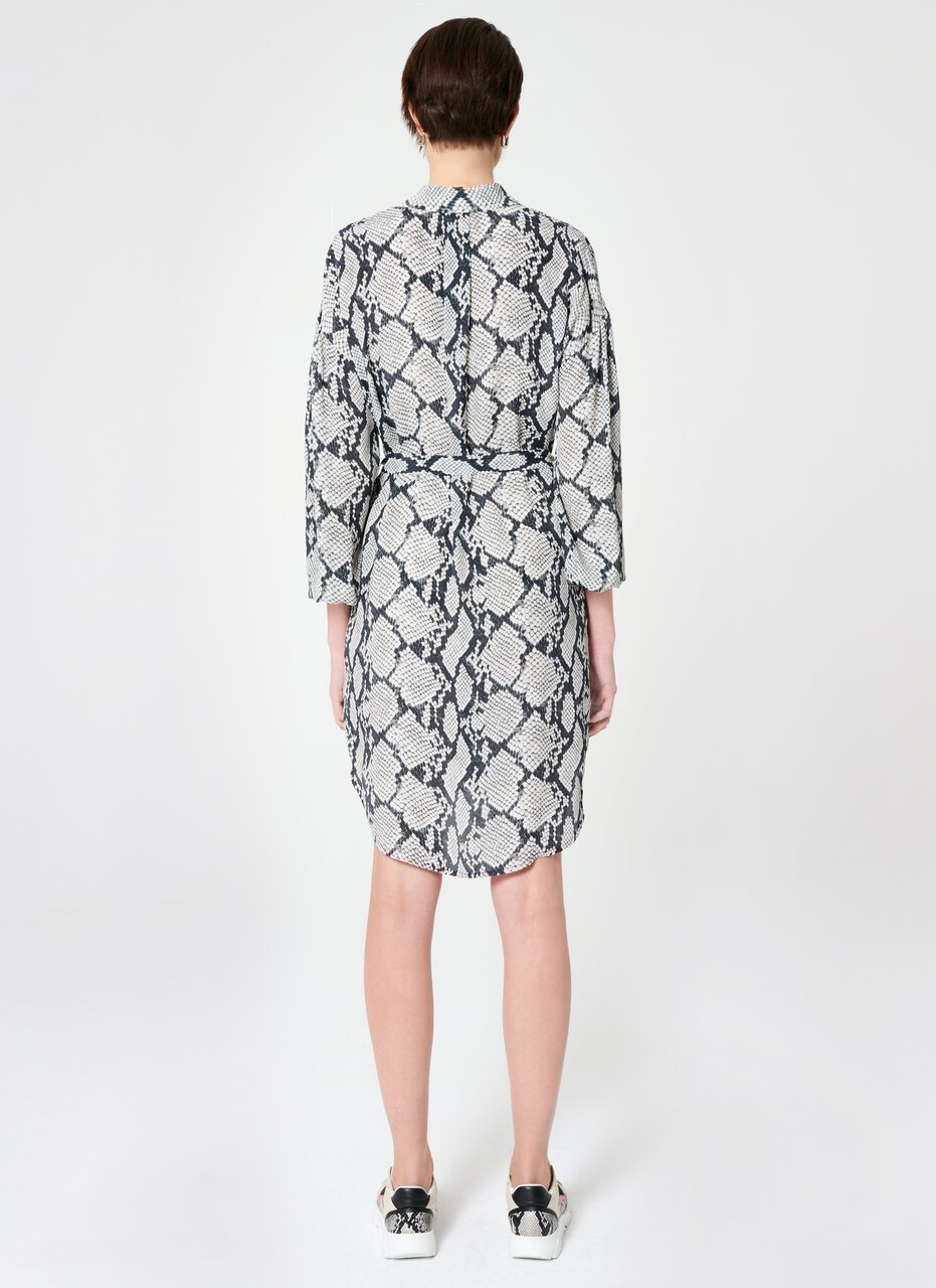ESCADA Viscose Silk Python Print Dress