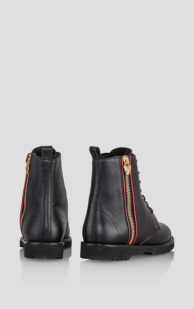ESCADA Leather Lace-Up Ankle Boots