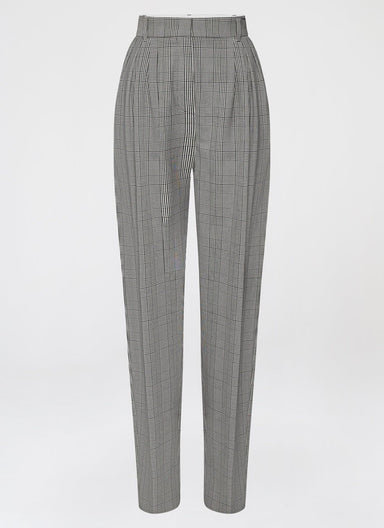 Fashionable Viscose Stretch Check Pants - ESCADA
