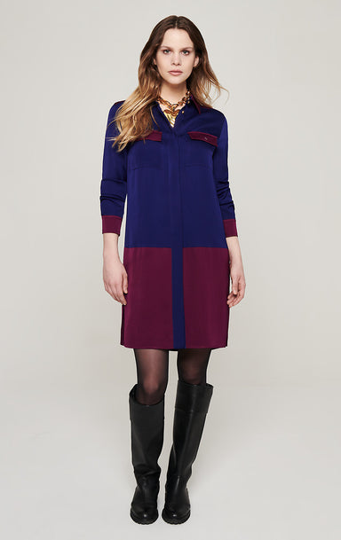 Two-Tone Shirt Dress - ESCADA