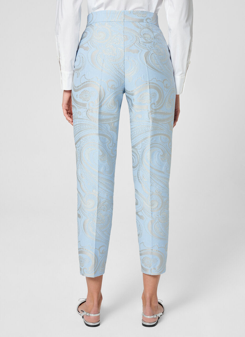 ESCADA Paisley Jacquard Cropped Pants