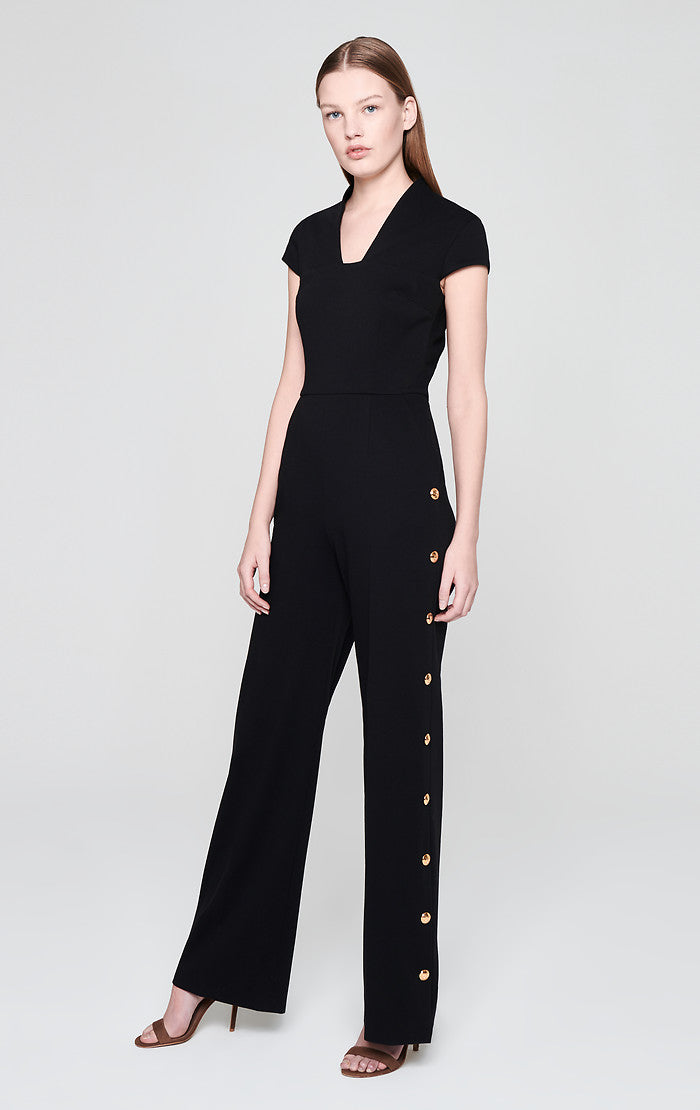ESCADA Milano Jersey Side Button Jumpsuit
