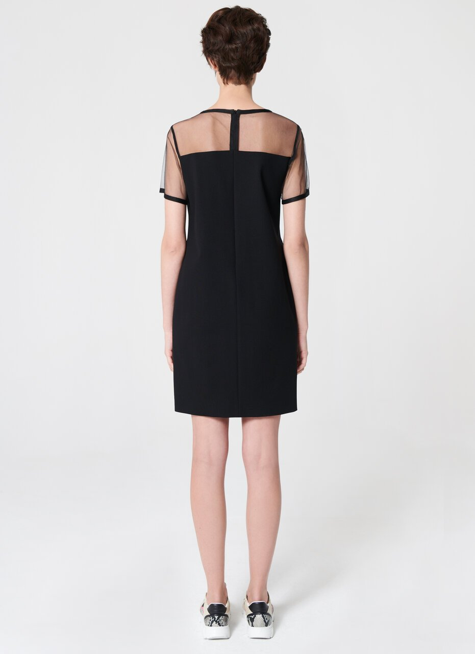 Milano Jersey Dress With Tulle - ESCADA