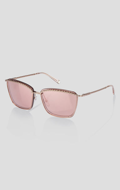 Square Metal Mirrored Sunglasses - ESCADA