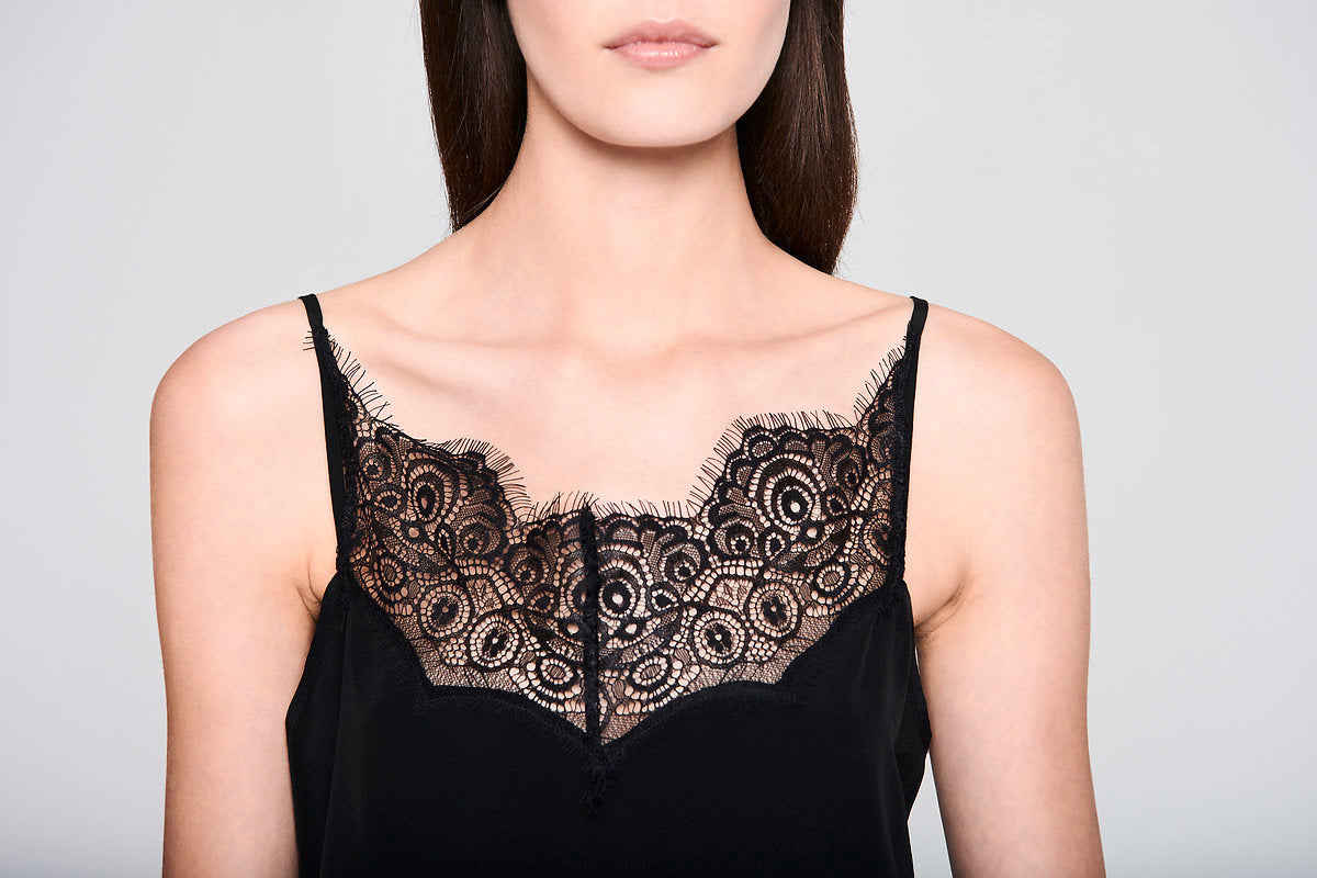 Lace-Trimmed Silk Camisole - ESCADA