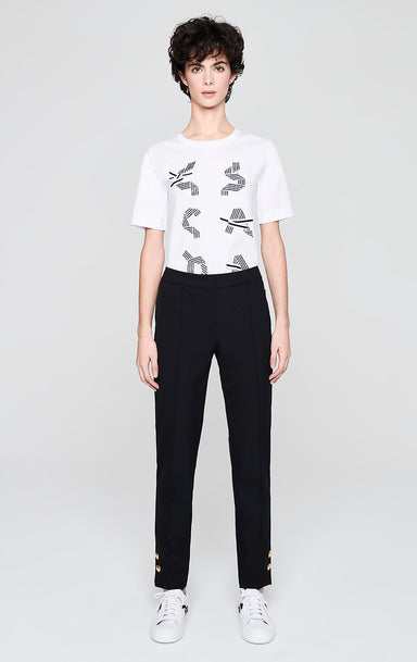 ESCADA Button Trim Ankle Pants