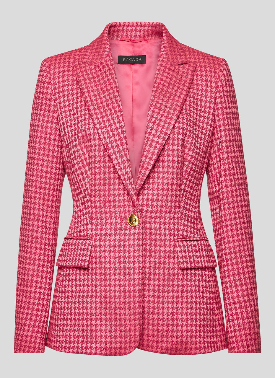 ESCADA Houndstooth Check Blazer