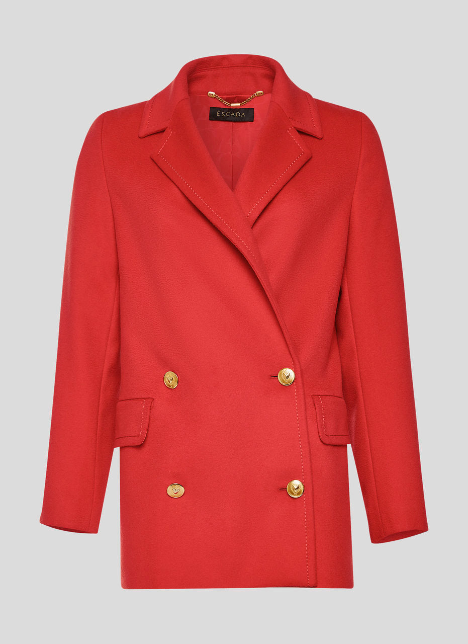 ESCADA Virgin Wool Pea Coat