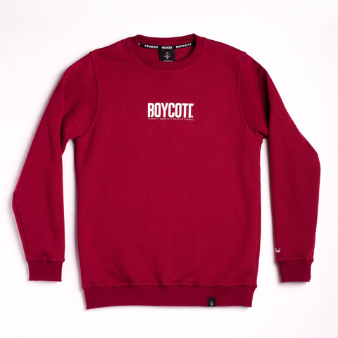 "A.H.B. MAROON ""ATHENS X MADE IN STREETS"" CREWNECK COD : 002-140-004"