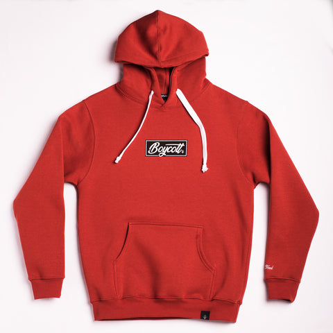 "A.H.B. ORANGE ""BOX STAMP"" HOODIE COD : 001-141-026"