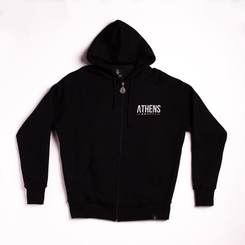"A.H.B. BLACK ""HOOD LOYALTY"" ZIP HOODIE COD : 006-135-003"