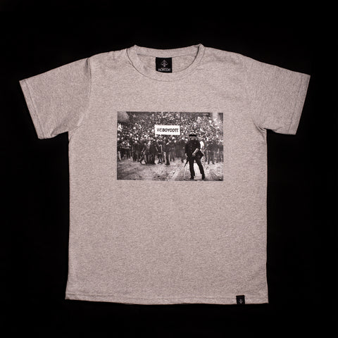 "A.H.B. GREY ""RALLY BCT MEANING"" T-SHIRT COD: 003-118-002"