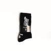 "A.H.B. BLACK ""BOYCOTT TAG"" SOCKS  COD : 090-025-003"