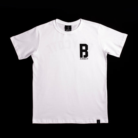 "A.H.B. WHITE ""COLLEGE"" T-SHIRT COD:003-120-001"