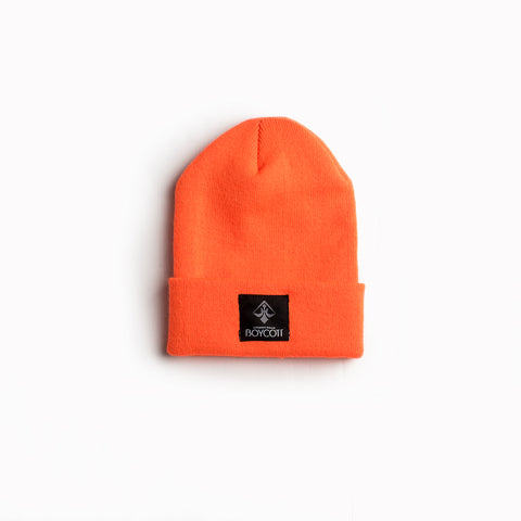 "A.H.B. ORANGE ""LOGO"" BEANIE"