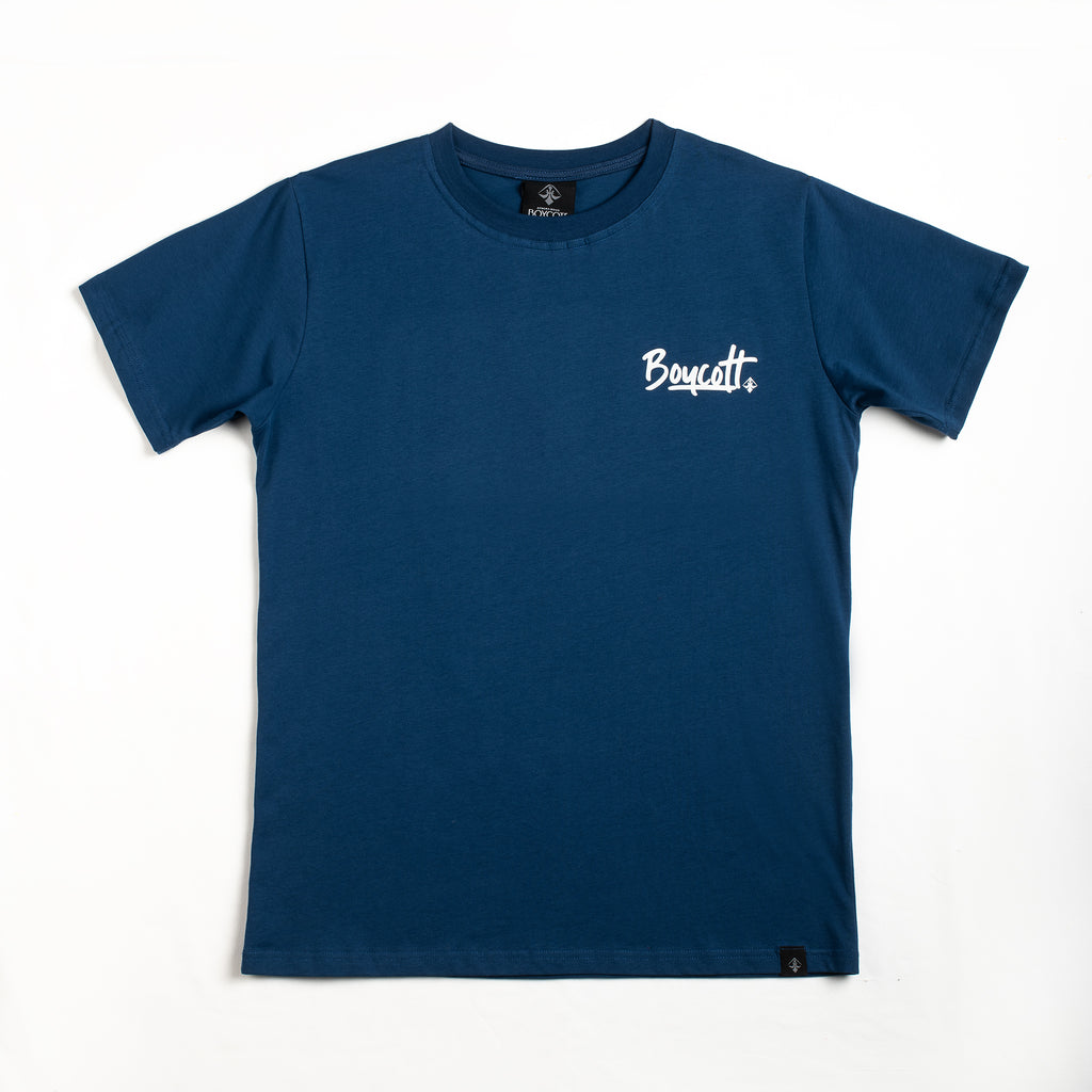 "A.H.B. BLUE NAVY T-SHIRT ""SUMMER VIBEZ"" COD:003-163-006"