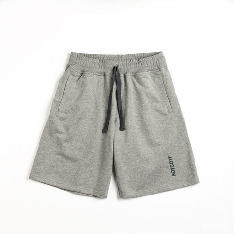 "A.H.B. GRAY SHORTS EMBROIDED ""BOYCOTT"" COD:070-170-002"