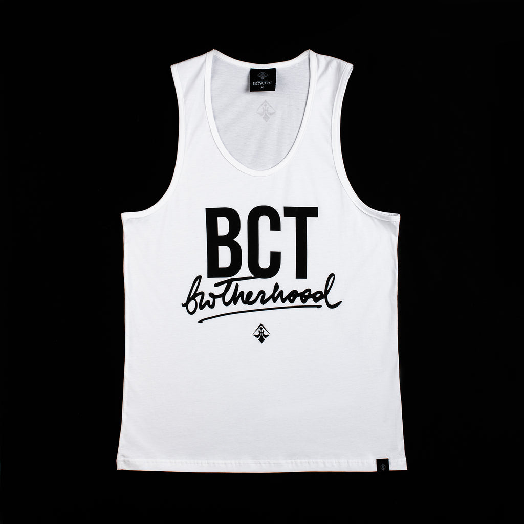 "A.H.B. WHITE TANKTOP ""BCT BROTHERHOOD"" COD:004-166-003"