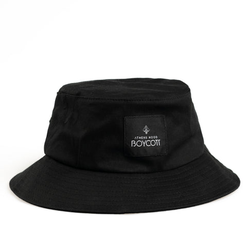 "A.H.B. BLACK ""LOGO"" BUCKET HAT"