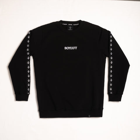 "A.H.B. BLACK ""STRIPES"" CREWNECK COD:002-174-003"