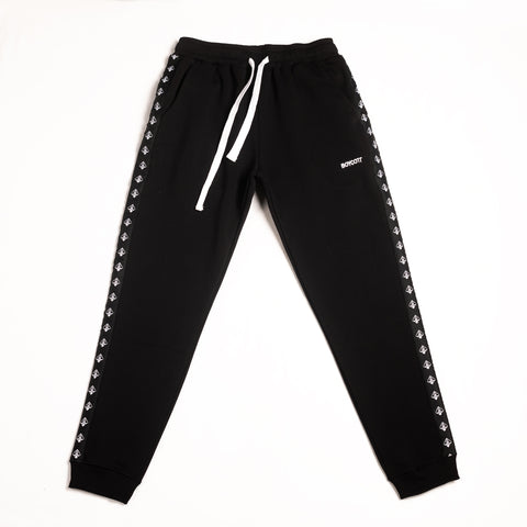 "A.H.B. BLACK ""STRIPES"" PANTS"
