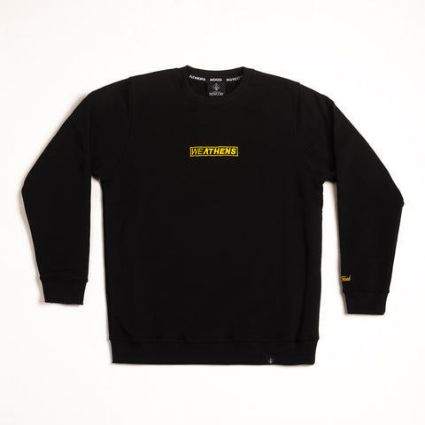 "A.H.B. BLACK ""WEATHENS"" CREWNECK COD:002-178-003"