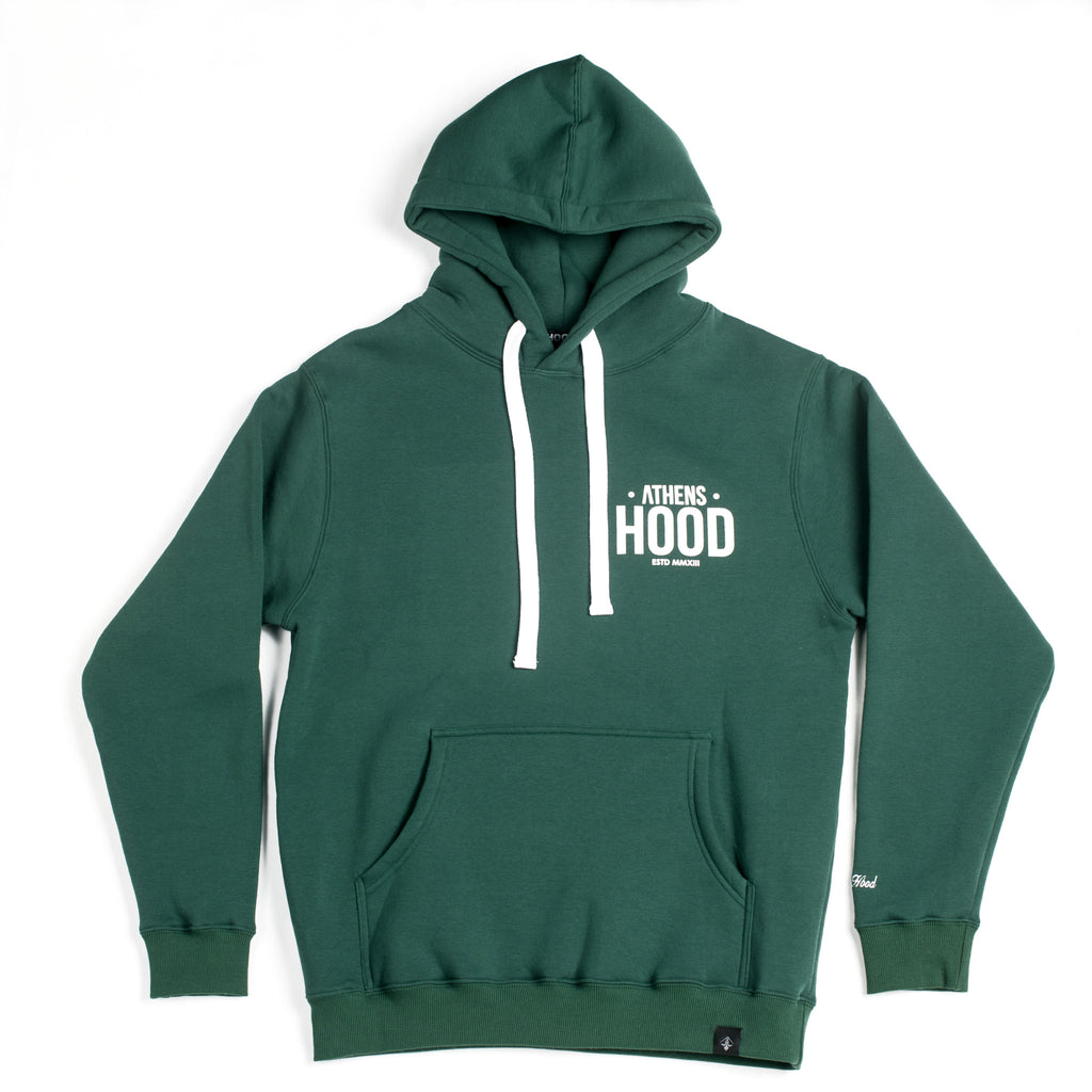 "A.H.B. DARK GREEN ""MADE IN STREETS"" HOODIE COD:001-187-005"