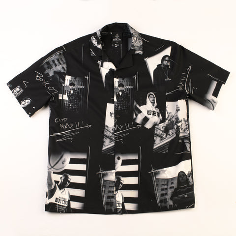 "A.H.B. BLACK N WHITE ""BOYCOTT MOMENTS"" SHIRT COD : 042-243-044"