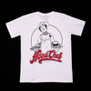 "A.H.B. WHITE T-SHIRT ""HOOD CHEF"" COD : 003-208-001"