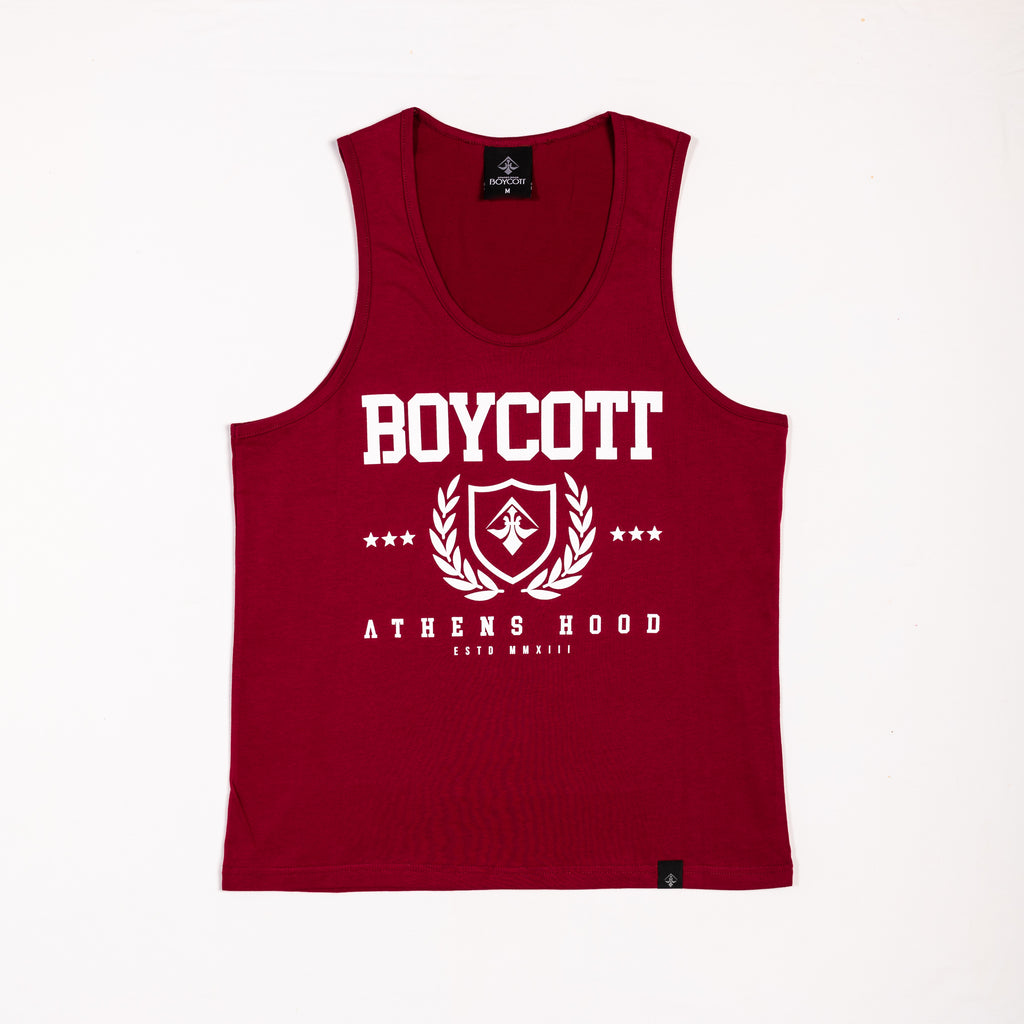 "A.H.B. BORDEAUX TANK-TOP ""SHIELD AND DAPHNES"" COD : 004-195-004"