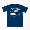 "A.H.B. NAVY BLUE T-SHIRT ""兄弟會"" COD : 003-206-006"