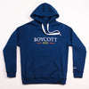 "A.H.B. BLUE EMBROIDERY ""BCT WORLDWIDE"" HOODIE COD : 001-2127-006"