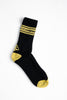 "A.H.B. BLK/YELLOW ""WEATHENS"" SOCKS COD:090-195-031"